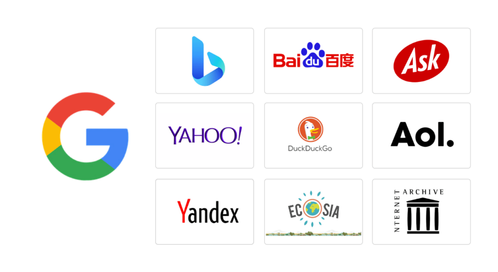 top search engines oct 2020
